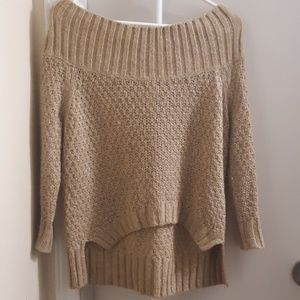 Sweaters - JUICY COUTURE GOLD SHIMMER SWEATER XS